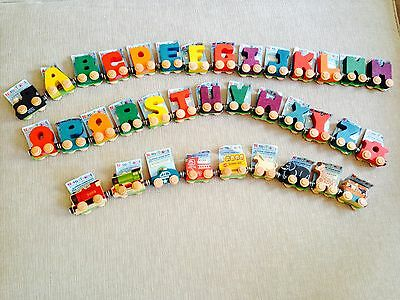 - WOODEN MAGNETIC NAME TRAIN ALPHABET LETTERS (EA) - YOU SELECT LETTERS OR TRAINS