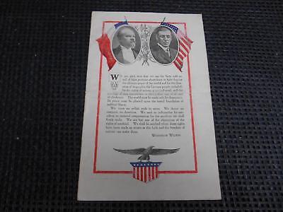 Old Vtg AMERICAN Y.M.C.A. Flyer Pamphlet Brochure Woodrow Wilson Era PROPAGANDA