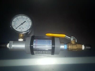 Hedland H271a Variable Area Air Flow Meter 14 Nptf 0.5 - 5 Scfm