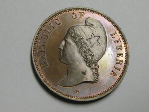 1890 Republic of Liberia 2 cents Proof