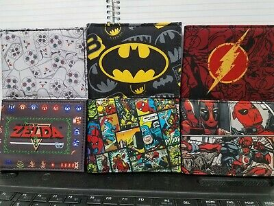 Bioworld Geek Wallet Lot: Zelda, Deadpool, Playstation, Avengers, Flash, Batman!