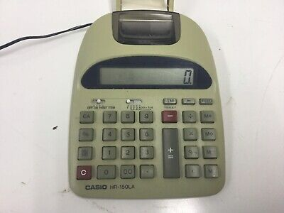 Casio Desk Top Calculator Printer Hr-150la Used ...115v Or Battery