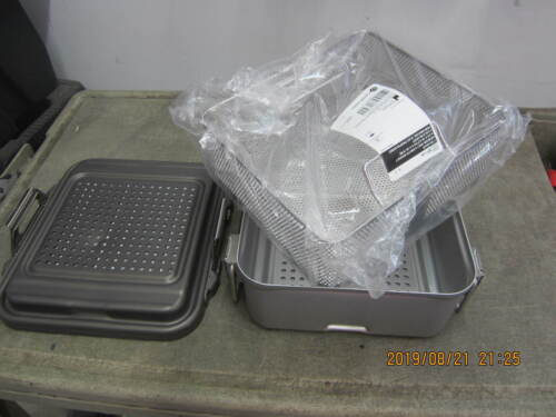 "V. Mueller CD1-5B Genesis Sterilization Container w/ Basket BP1-4A    11""x12""x5"""