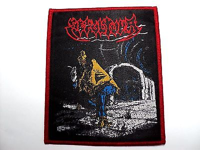 SEPULTURA   RED BORDER    WOVEN  PATCH