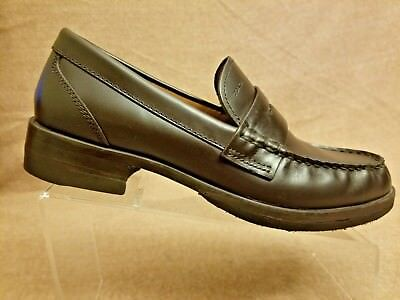 2d4fde0eb413  54.99. New School Men Slip On Brown Leather Penny Loafers Moc Toe Dress  Shoes ...
