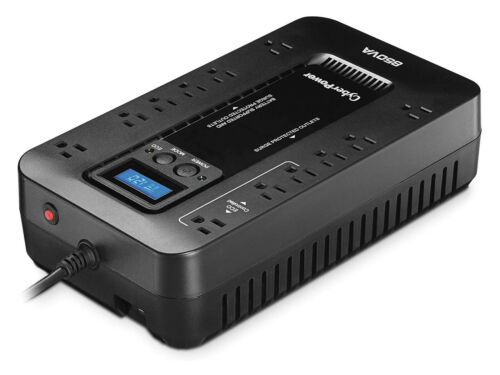 CyberPower EC850LCD Battery Backup Surge Protector UPS 850VA 510W Power Outlets