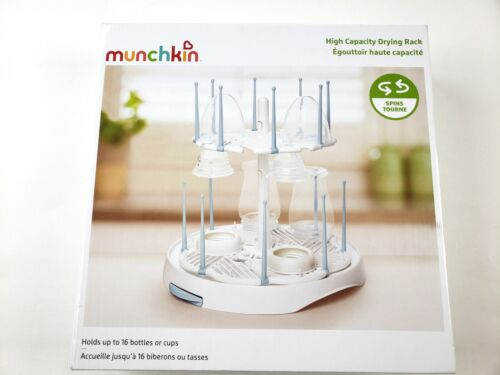 Munchkin High Capacity Drying Rack Holds Up to 16 Bottlers Or Cups W/ Drain
