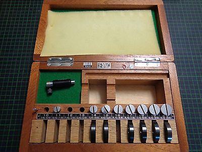 3 Gerät Einstellen (1 x Diatest Tastkopf-Messgerät 9,4 - 20,6mm; 3x Tastkopf & 5x Einstellring fehlt)