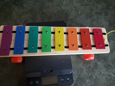 Vintage Fisher Price Pull-A-Tune Toy Xylophone 870 1964-1978 with Mallet Stick