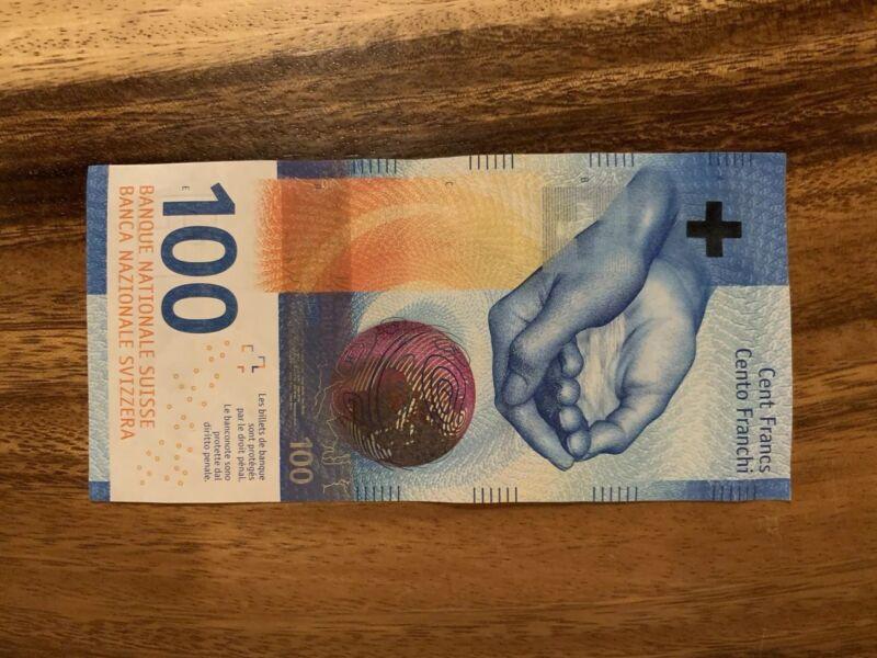 SWITZERLAND 100 FRANCS FRANKEN FRANCHI Good Condition, Swiss, Single Banknote
