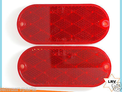 Red Reflectors With Mouting Holes and Adhesive X RV Motorhome, Trailer, Camper