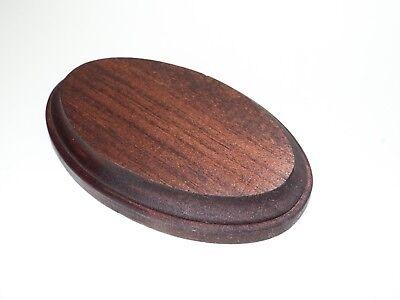 Mahogany Finish Oval Wood Display Plaque.  Display Base.  Display Stand. Mahogany Finished Base