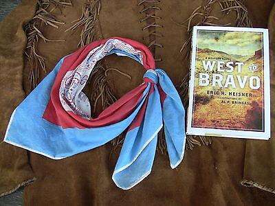 John Wayne styled Hondo Bandana & West to Bravo Western Novel, Duke Cowboy SASS - Cowboy Bandanas
