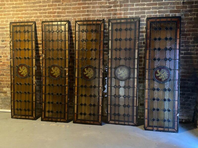 Antique Rectangular Stained Glass