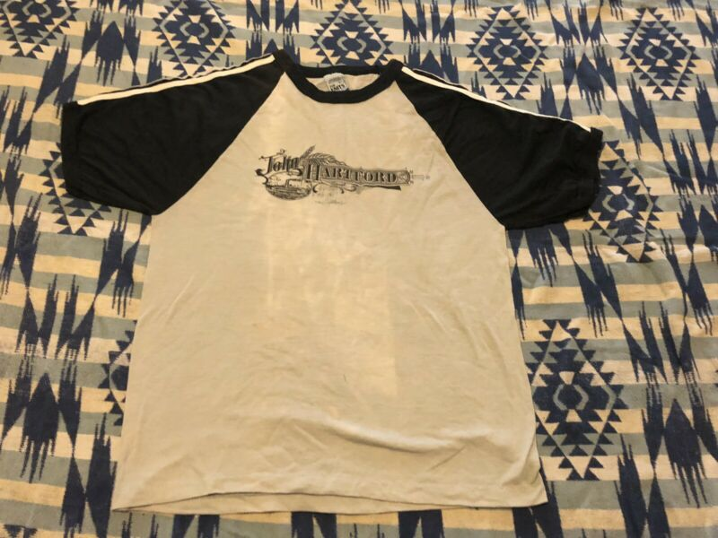 Vtg 70s John Hartford Mark Twang Tour Concert Shirt Bluegrass Banjo The Knits L