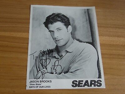 "jason brooks ""peter blake"" days of our lives sighed autographed photo"