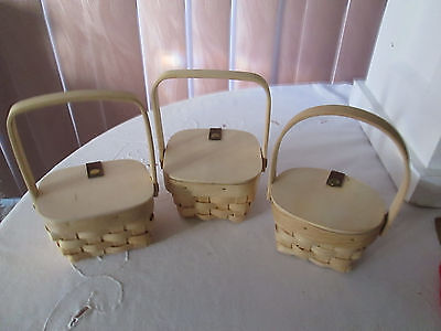 Small Wicker (Small Natural Wicker Basket With Flip up Lid -YOUR CHOICE of Shape, New)