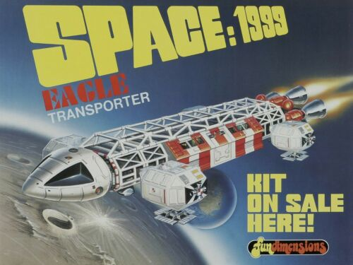 Space 1999 Science Fiction TV Show NEW Metal Sign: Eagle Transporter Model Pic