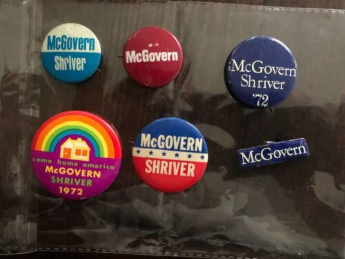 George McGovern Political Presidential 6 Button Set - 1972 - Vintage & Wonderful