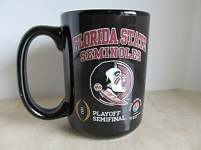 FLORIDA STATE SEMINOLES Ceramic COFFEE CUP Football Playoff 2015 Rose Bowl NWOT! ()