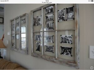Fenêtres à carreaux en bois