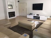 Like new 7 seater leather lounge + chaise + ottoman Penrith Penrith Area Preview