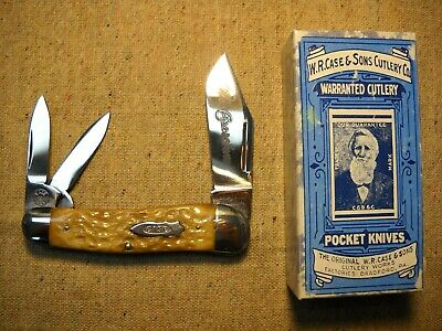 W.R. Case & Sons Classic 63043 1/2 Whittler Knife perfect Light Green Bone