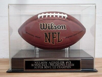 Nelson Agholor Eagles Football Display Case For Your Autographed Football