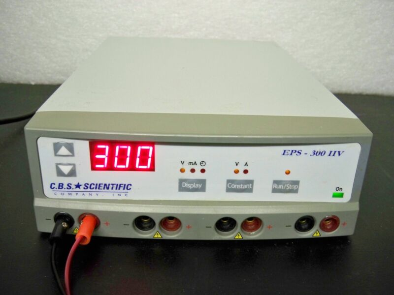 CBS Scientific EPS-300IIV 300V Power Supply electrophoresis/tube amplifier testg