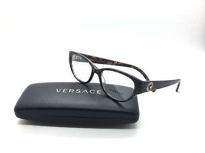 Versace Women Brown Cats Eye Emblem Eyeglasses MOD 3183 5083 52 Plastic