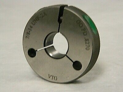 Vermont Gage 78-14 Unf-2a Go Single Ring Thread Gage 361158010