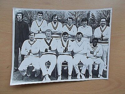 A Real Photo Of The KIDDERMINSTER  Cricket Club Team From 1975