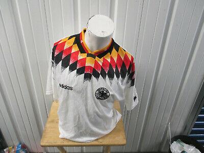 VINTAGE ADIDAS GERMANY NATIONAL FOOTBALL MENS TEAM LARGE SEWN JERSEY 1994/96 KIT image