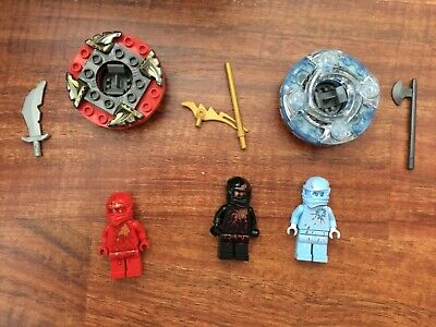 Lego Ninjago Minifigure NRG Cole Kai Zane Mini Figure Lot with Spinners