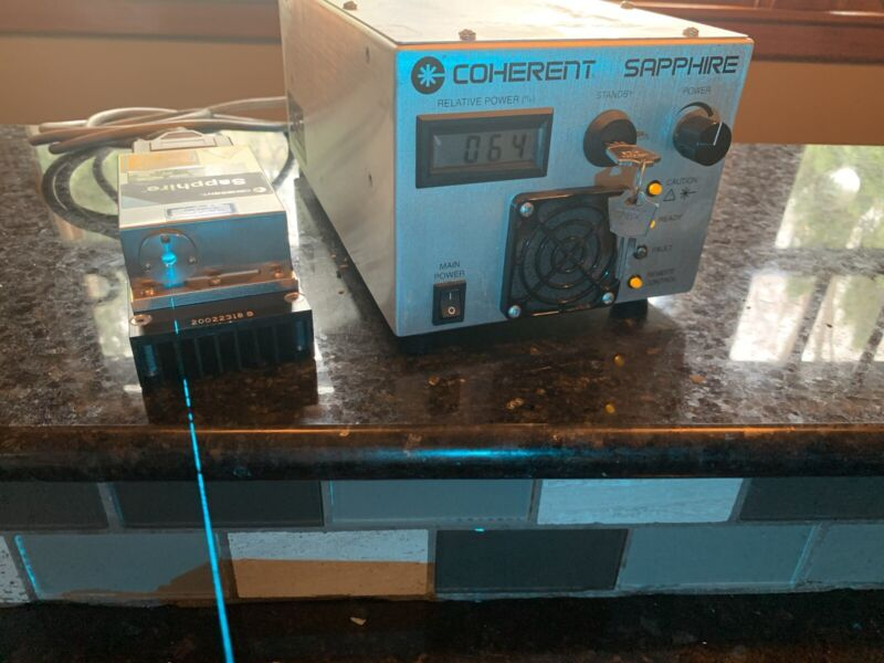 Coherent Sapphire LP 488-120 CDRH Laser Head | Holography | SLM