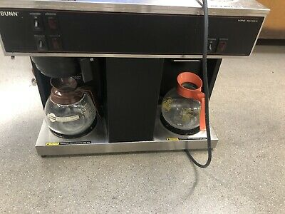 Bunn Vps Commercial 12 Cup Pour Over Coffee Brewer With 3 Warmers Black 2 Pots