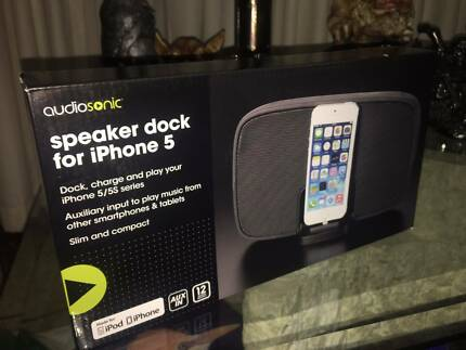 Speaker dock for iPhone 5
