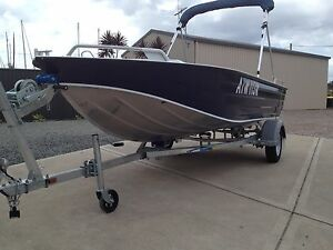 FISHING BOAT 4.2M ALLOY HULL & TRAILER. LIKE A QUINTREX Salt Ash Port Stephens Area Preview