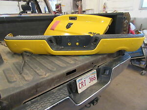 2016 DODGE RAM REAR BUMPER W SENSER W DUAL PAINTED