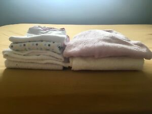 Towels hooded set of 6, some fleece some cotton