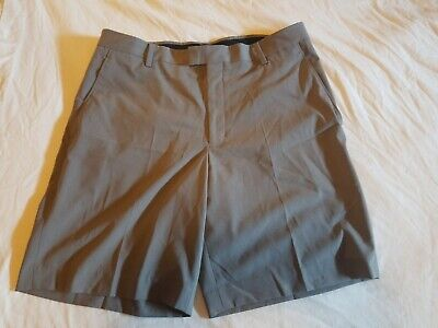 Tiger Woods Collection Mens Nike Golf Shorts Grey Size 36 EUC looks unworn