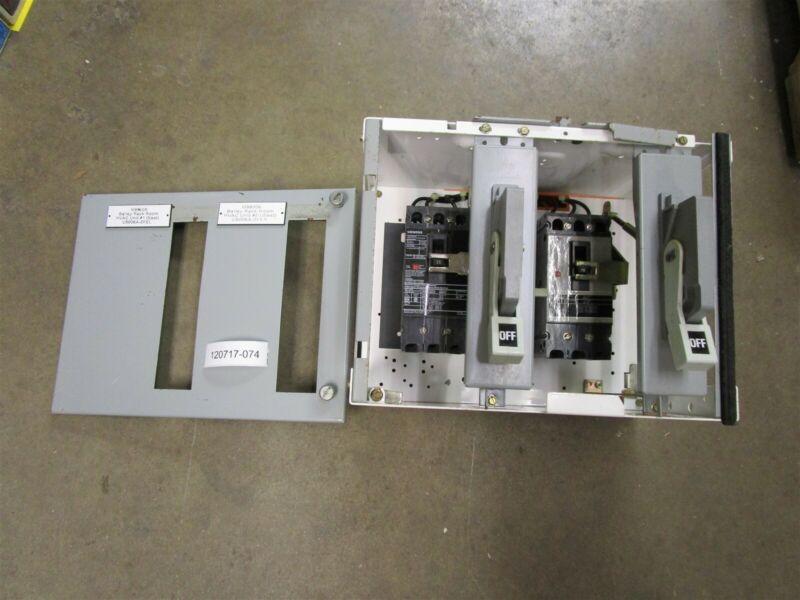 """Siemens Tiastar MCC Bucket Double 15 amp Breakers HHED63B015 12"""" W/Door"""