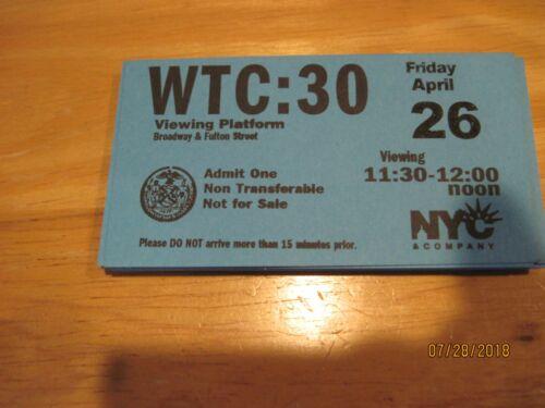 "World Trade Center  Twin Towers  9/11 - WTC - ""Viewing Platform""  Bonus 1 free"