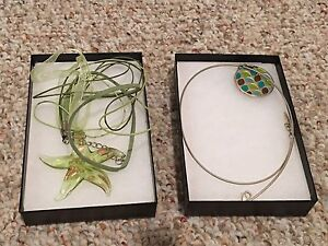 Two beautiful Necklaces (2) never used, in nice black gift box