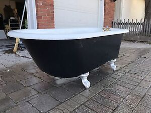 Antique Ball and Claw Foot Cast Iron Bathtub