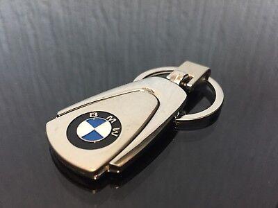 BMW SILVER METAL NEW KEYRING KEY CHAIN RING FOB 2018 ALL BMW MIRROR FINNISH