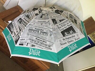 Hamp.Rds. Norfolk VA Vintage Collectible The Virginian Pilot Newspaper Umbrella