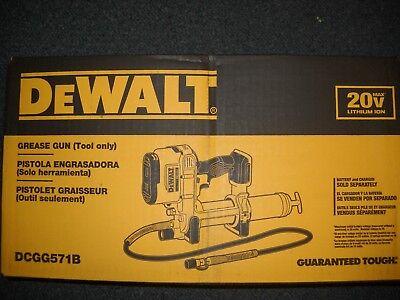 "DEWALT DCGG571B 20 Volt Max Li-Ion Cordless Grease Gun 42"" Flex Hose Lithium Ion"