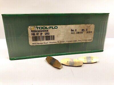 Tool-flo V85 Nt 2p New Carbide Inserts Grade Gp50 3pcs