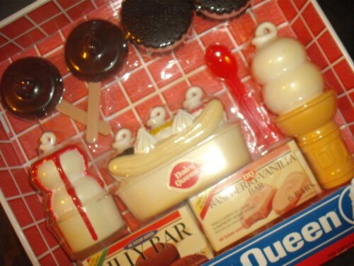 DAIRY QUEEN playset 2002 NEW SEALED , BOLEY toys & toy whistle from 1990